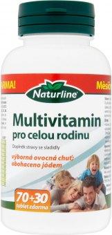 Doplněk stravy s jódem Multivitamín pro celou rodinu Naturline