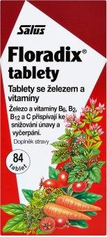 Doplněk stravy tablety se železem a vitamíny Floradix Salus