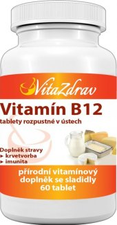Doplněk stravy Vitamín B12 VitaZdrav