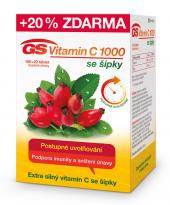 Doplněk stravy Vitamin C 1000 se šípky GS