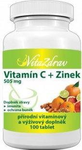 Doplněk stravy Vitamín C + zinek VitaZdrav