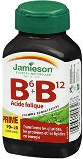 Doplněk stravy Vitamíny B6 B12+kyselina listová Jamieson