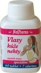 Doplněk stravy Vlasy, kůže, nehty MedPharma