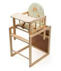 Dřevěná rozkládací židlička