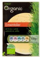 Sýr Ementál 45% Tesco Organic