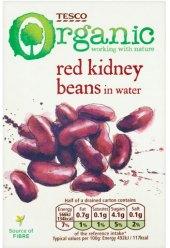 Fazole červené klidney ve vodném nálevu Tesco Organic