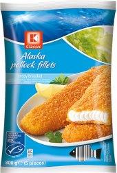 Filety obalované z aljašské tresky mražené K-Classic