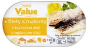 Makrela filety Tesco Value