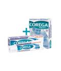 Fixační krém + čisticí tablety na zubní protézu Corega