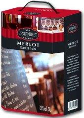 Víno francouzské Merlot L'estaminet - bag in box
