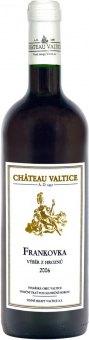 Víno Frankovka Chateau Valtice - výběr z hroznů