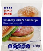Hamburger mražený Tesco Value