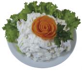 Havířovský salát s hermelínem