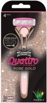 Holicí strojek dámský Quattro Rose Gold Wilkinson
