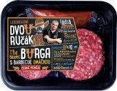 Hovězí burger dvouručák + omáčka Kostelecké uzeniny