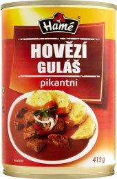 Hovězí guláš pikant Hamé - konzerva