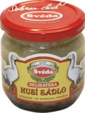 Husí sádlo se smaženou cibulí Švéda