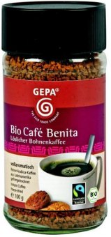 Instantní káva Café Benita Bio Gepa