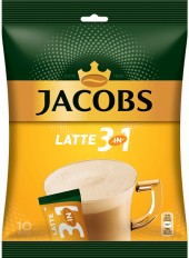 Instantní káva porcovaná Latte Jacobs