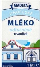 Mléko Jihočeské Madeta - 0,5% odstředěné