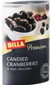 Kandované brusinky v čokoládě Premium Billa