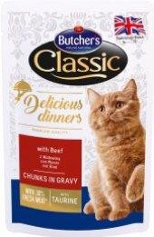 Kapsička pro kočky Classic Delicious Dinners Series Butcher's