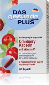 Doplněk stravy Brusinky Das gesunde Plus