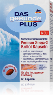 Doplněk stravy Krilový olej Das gesunde Plus