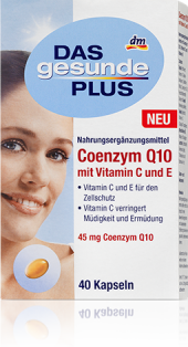Doplněk stravy s koenzymem Q10 Das gesunde Plus