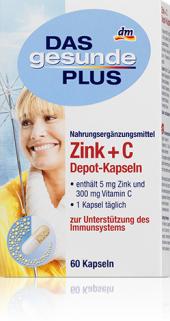 Doplněk stravy Zinek + vitamín C Das gesunde Plus
