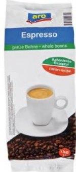 Zrnkové kávy Aro