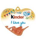 Kinder čokoládky I love you