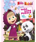 Kniha pro děti Máša a medvěd Velká kniha puzzle
