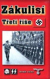 Kniha Zákulisí Třetí říše Zbyněk Válka