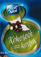 Kostky kokosové v mléčné čokoládě First Nice