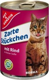 Konzerva pro kočky Gut&Günstig Edeka
