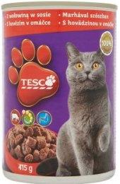 Konzerva pro kočky Tesco