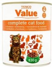 Konzerva pro kočky Tesco Value