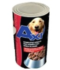 Konzerva pro psy Axi
