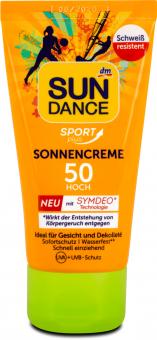 Krém na opalování Sport Plus OF 50 SunDance