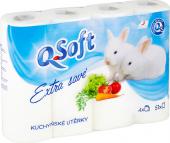 Kuchyňské utěrky 3vrstvé Q-Soft
