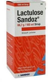 Roztok proti zácpě Laktulose Sandoz