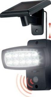 LED solární reflektor s pohybovým senzorem Livarnolux