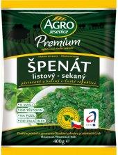 Špenát listový mražený Premium Agro Jesenice