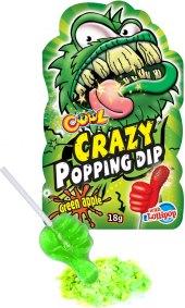 Lízátko s praskajícím práškem Crazy Popping Dip Cool