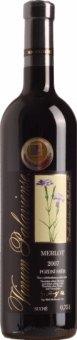 Víno Merlot Vinselekt Michlovský - pozdní sběr