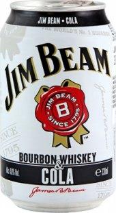 Míchaný nápoj Jim Beam a Cola
