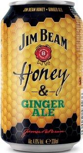 Míchaný nápoj Jim Beam Honey a Ginger Ale