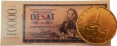 Čokoláda na kartě - mince Čokoládovny Fikar