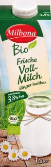 Mléko čerstvé Bio Milbona - 3,8% plnotučné